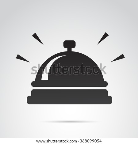 Bell icon isolated on white background. Vector art.