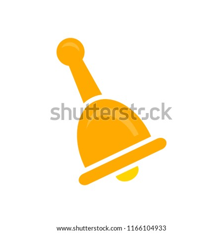 bell icon, vector alarm alert symbol