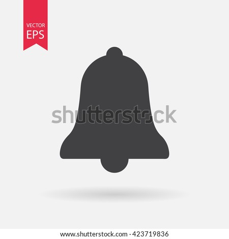 Bell icon vector,  Alarm, service handbell sign Isolated on white background. Trendy Flat style for graphic design, logo, Web site, social media, UI, mobile app, EPS10