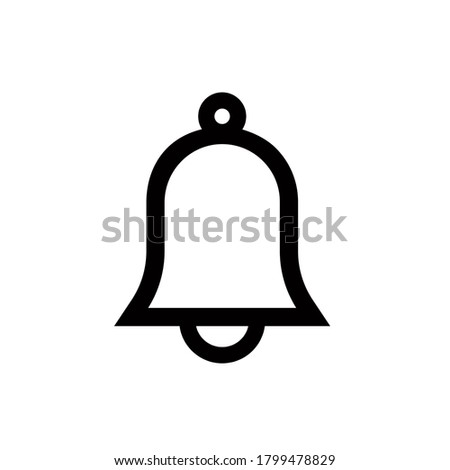 Bell icon, vector illustration. Flat design style. vector bell icon illustration isolated on white background, bell icon Eps10. bell icons graphic design vector symbols.