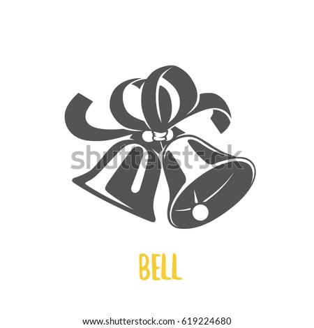 Bell illustration. Logotypes and badges. Vector logotype isolated on white background.