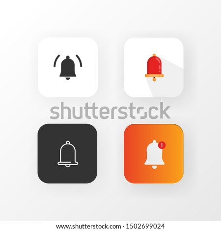 bell logo icon with 4 type of