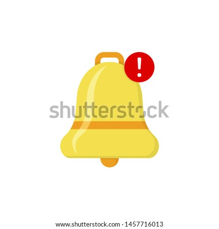 bell notification in flat style on white background #1457716013