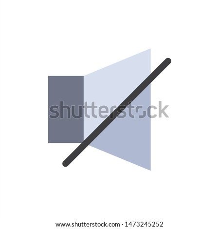 Bell, Off, Silent, Twitter  Flat Color Icon. Vector icon banner Template