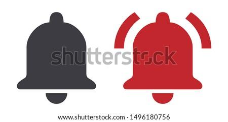 Bell ring icon vector illustration 商業照片 ©