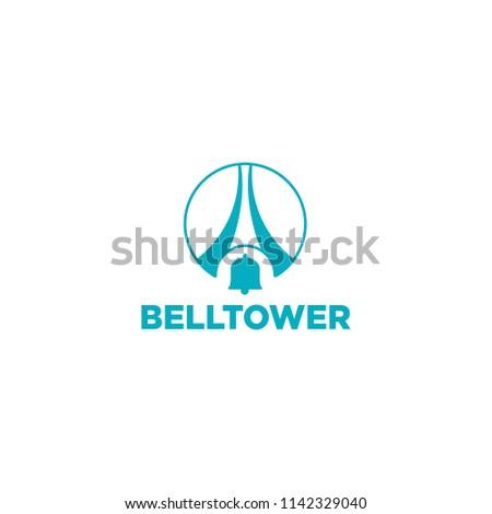 bell tower logo template