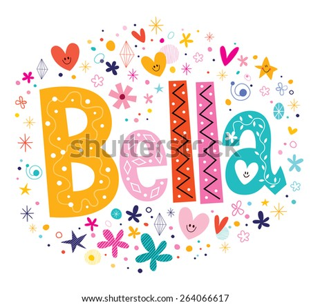 bella girls name decorative