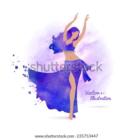 belly dancer watercolor art