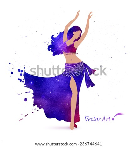 belly dancer with space pattern