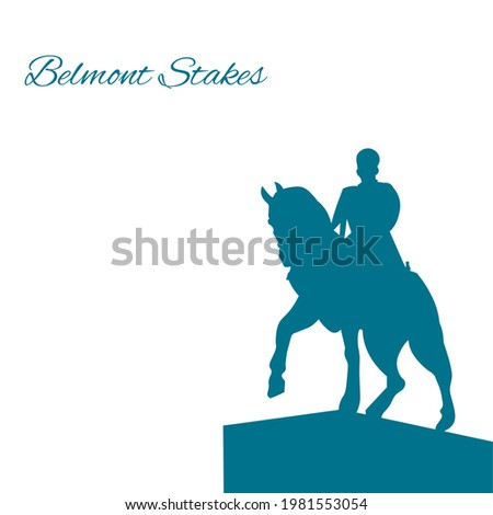 Belmont Stakes with horse ,Vector Illustration. Сток-фото ©