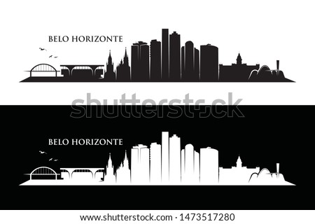 Belo Horizonte skyline - Brazil - vector illustration