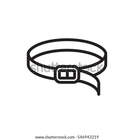 belt icon illustration isolated vector sign symbol