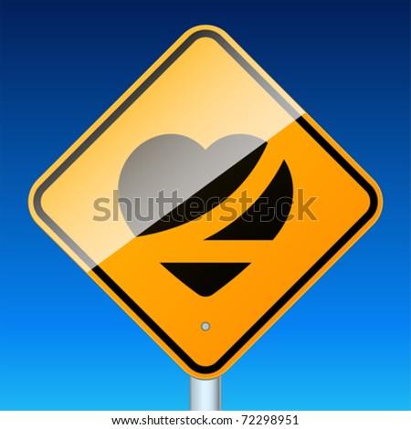 Belt up, save a life. High-detailed vector sign.
