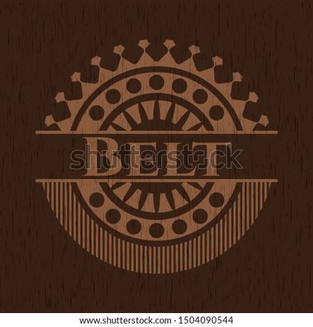 Belt wood signboards. Vector Illustration.