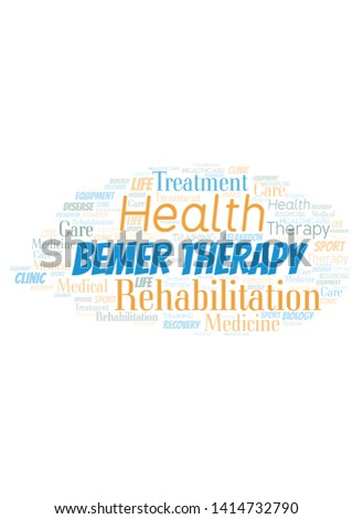 Bemer Therapy word cloud. Wordcloud made with text only.