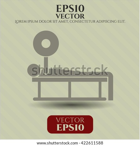 bench press icon vector symbol flat eps jpg app web