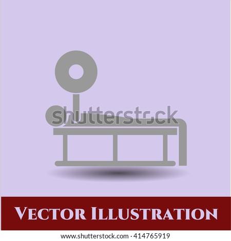 Bench Press vector icon