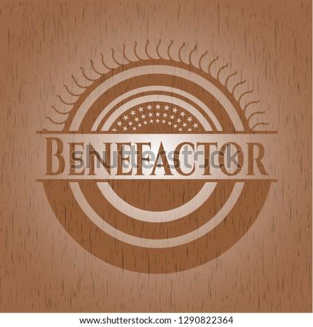 Benefactor wooden emblem. Retro
