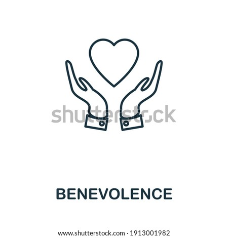 Benevolence icon. Simple element from business management collection. Creative Benevolence icon for web design, templates, infographics and more Stock photo ©