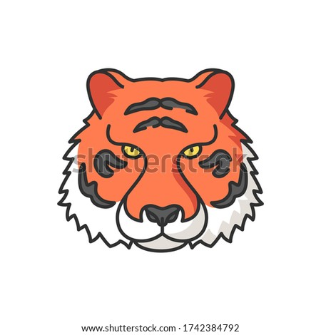 bengal tiger rgb color icon