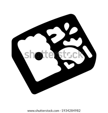 Bento box icon isolated vector illustration. High quality black style vector icon