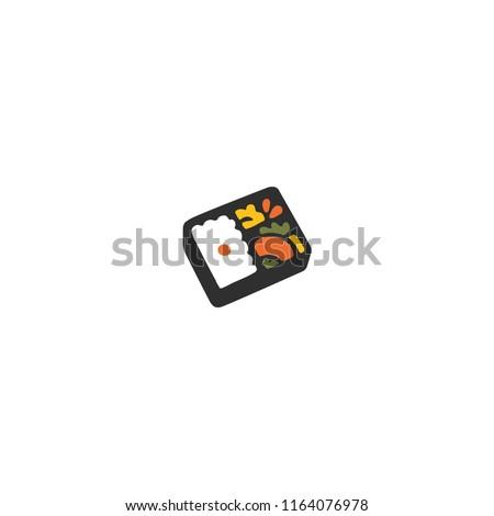 Bento Box Vector Flat Icon