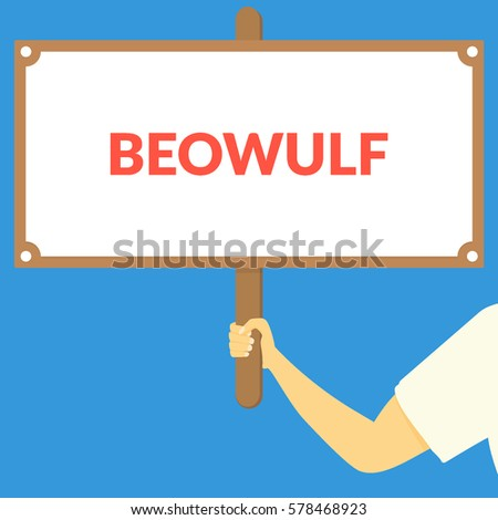 beowulf hand holding wooden