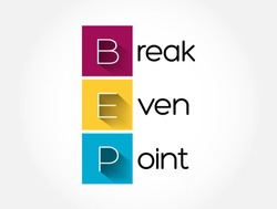 BEP - Break Even Point acronym, business concept background