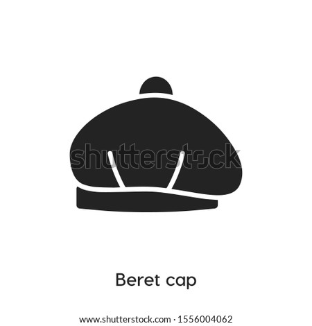 beret cap vector line icon. Simple element illustration. beret cap office icon for your design. Can be used for web and mobile.