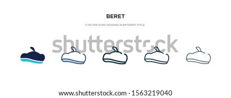 beret icon in different style vector illustration. two colored and black beret vector icons designed in filled, outline, line and stroke style can be used for web, mobile, ui