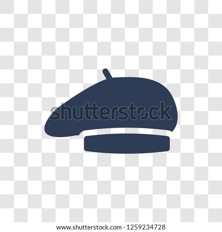 Beret icon. Trendy Beret logo concept on transparent background from Clothes collection