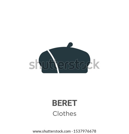 Beret vector icon on white background. Flat vector beret icon symbol sign from modern clothes collection for mobile concept and web apps design.