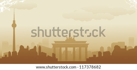 berlin abstract skyline