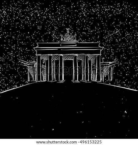 berlin by night brandenburger