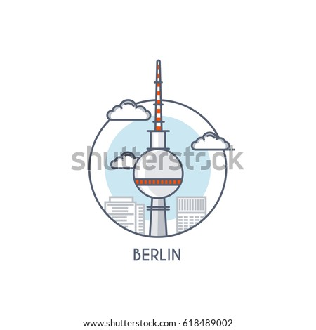 berlin city flat line color