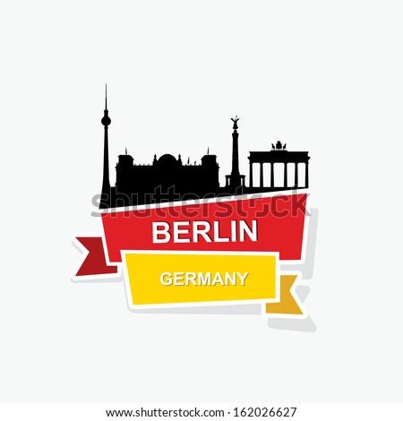 berlin ribbon banner   vector