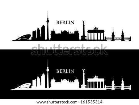 berlin skyline   vector