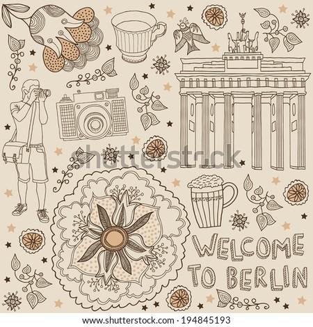 berlin vector illustration