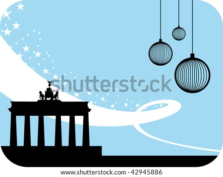 Berlin winter background