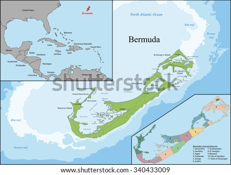 Free British Isles Map Vector Download Free Vector Art Stock - Map of bermuda and coast of us