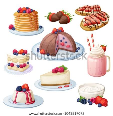 berry mix dessert collection