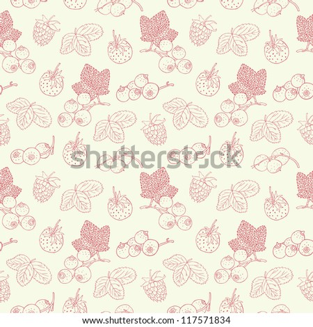 berry seamless background
