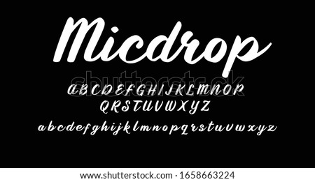 Best Alphabet Micdrop Script Graphic Font Script Brush Font Type Signature Font lettering handwritten