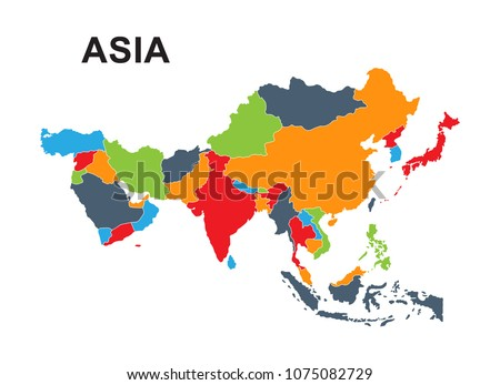 best Asia outline world map
