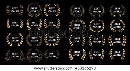 best award mega set vector