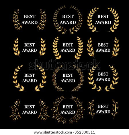 best award vector gold award