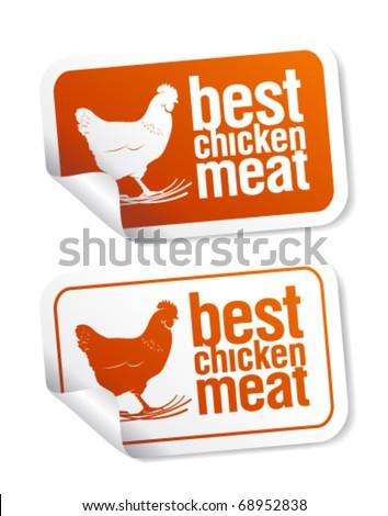 Best chicken meat stickers set