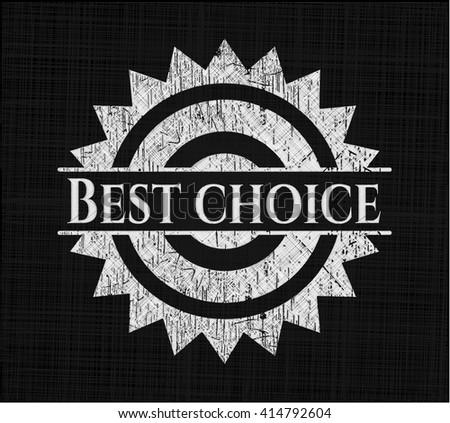 Best Choice chalk emblem