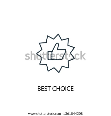 best choice concept line icon. Simple element illustration. best choice concept outline symbol design. Can be used for web and mobile UI/UX