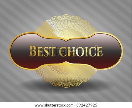 Best Choice gold shiny emblem